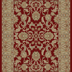 "Concord Global - Red Ankara Oushak Area 2'2"" x 7'3"" Runner Rug Concord Global - The Ankara collection is made of heavy heat-set olefin and has the look and feel of an authentic hand made rug at a fraction of the cost. New additions to the line include transitional patterns that are up to date in the current fashion trend. Made in Turkey"