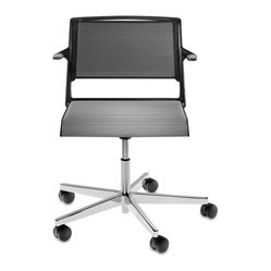 Wilkhahn Aline Task Chair With Arms, White/Taupe