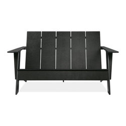 Emmet Sofa - A modern take on the symbol of rustic, American relaxation. Made from 100 percent recycled plastic.