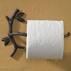 Natures Walk Toilet Paper Holder - Capture the rustic feel of nature for your home with our Natures Walk collection. This natural iron accessory is artfully crafted to bring nature indoors with its branch and leaf design. Rich in detail and rustic charm.