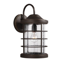 "Sea Gull Lighting - Sea Gull Lighting 8624401 Sauganash 1 Light 16.75"" High Outdoor Wall Sconce - Features:"