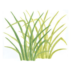 """Stencil Ease - Rainforest Jungle Grass Wall Mural Stencil - Rainforest Jungle Grass Wall Mural Stencil Contains: 2 - 19.5"""" x 19.5"""" stencil sheets. Actual size of Grass Stencil: 17.56"""" wide x 17.72"""" high This stencil can be used both in our Rainforest Jungle Mural or alone as a wall and floor all-over large format stencil. This design was painted using the following Americana Acrylic stencil paint colors: MDA02051 Leaf Green MDA02010 Cadmium Yellow MDA02208 Celery Green Complete kit comes with stencils paints and 1 TT10068 double-ended stencil brush."""
