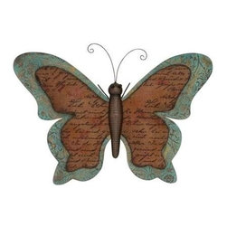 BZBZ55239 - Prose Styled Irish Metallic Butterfly Decor - Prose Styled Irish Metallic Butterfly Decor. This multicolored butterfly decor will bursts your indoors with colors; screaming wow. Some assembly may be required.
