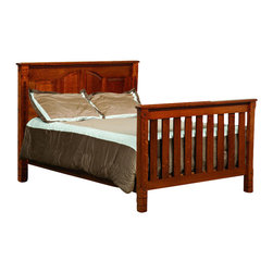 Chelsea Home Furniture - Chelsea Home Stratford Crib w/ Full Size Rails in Michaels Cherry Stain - As children go through stages as they grow, so should their furniture. The Stratford Convertible Crib Set, shown with White Quarter Sawn Oak and Michaels Cherry Stain, is a solid wood 3-stage bed system that is constructed with quality and durability to transition any newborn into adulthood with an ornate minimalism. The sturdy slats and arched back panels add to the decorative embellishment along the top edges of the crib, giving just the right amount of detail. This CPSC 16 CFR 1219 & 1220 compliant convertible piece is complete with guard rail and 3-level mattress support, and simple transition instructions to keep your child resting easy and comfortable.