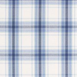 Schumacher - St. Martin Plaid Fabric, Cornflower - 2 Yard Minimum Order