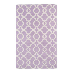 Kaleen - Kaleen Revolution Collection REV03-90 2' x 3' Lilac - The color Revolution is here! Trendy patterns with a fashion forward twist of the hottest color combinations in a rug collection today. Transform a room with the complete color makeover you were hoping for and leaving your friends jealous at the same time! Each rug is hand-tufted and hand-carved for added texture in India, with a 100% soft luxurious wool.