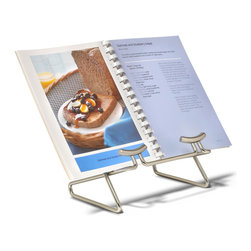 Spectrum Diversified Designs, Inc. - Euro Cookbook Holder - Keep cookbooks clean and safe from kitchen spills with this handy holder. It features a durable metal construction and sleek modern look.   8'' W x 6'' H x 5'' D Steel Imported