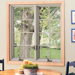 Casement Windows - Casement windows by the kitchen table.