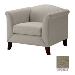 Apt2B - Albright Chair, Woven Gravel - The Albright Collection is super chic. With a smooth back and tapered wooden legs, this chair is sure to class up your space.