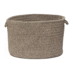 "Shear Natural, Rockport Gray Utility Basket, 18""X12"""