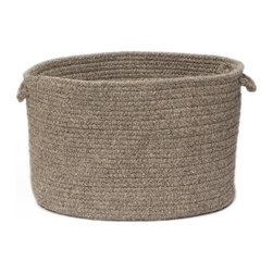 """Colonial Mills, Inc. - Shear Natural, Rockport Gray Utility Basket, 18""""X12"""" - No fuss, no frills — just 100 percent wool with lots of room for all kinds of stuff. The neutral color means it fits seamlessly with any decor, and with two handles, it's easy to tote it to wherever you need it most."""