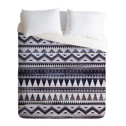 DENY Designs - Iveta Abolina Blue Navajo 1 Duvet Cover - Turn your basic, boring down comforter into the super stylish focal point of your bedroom. Our Luxe Duvet is made from a heavy-weight luxurious woven polyester with a 50% cotton/50% polyester cream bottom. It also includes a hidden zipper with interior corner ties to secure your comforter. it's comfy, fade-resistant, and custom printed for each and every customer.