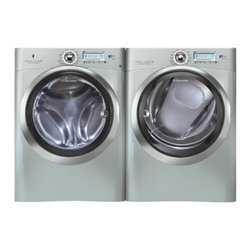 Electrolux - EWFLS70JSSSILVERKIT3 Wave-Touch Series 4.42 cu. ft. Capacity Front Load Washer P - The Electrolux EWFLS70J 442 cu ft high-efficiency front load washer features Perfect Steam so you can add steam to the wash cycle for whiter whites and improved stain removal The washer offers 14 wash cycles including 8 cycles with Add Steam option a...