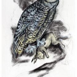 Snowy Owl (Original) by Kathleen Benton - ��Kathleen Benton