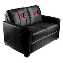 Dreamseat Inc. - Northeastern University NCAA Xcalibur Leather Loveseat - Check out this incredible Loveseat. It's the ultimate in modern styled home leather furniture, and it's one of the coolest things we've ever seen. This is unbelievably comfortable - once you're in it, you won't want to get up. Features a zip-in-zip-out logo panel embroidered with 70,000 stitches. Converts from a solid color to custom-logo furniture in seconds - perfect for a shared or multi-purpose room. Root for several teams? Simply swap the panels out when the seasons change. This is a true statement piece that is perfect for your Man Cave, Game Room, basement or garage.