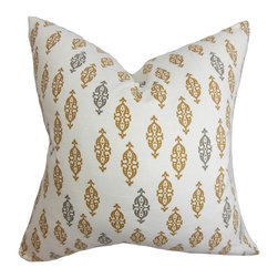 "The Pillow Collection - Ziven Geometric Pillow Brown 18"" x 18"" - Showcase a stylish decor theme with a collection of accent pillows. This toss pillow features a geometric pattern which comes in earthy hues of brown and gray on a white background. A perfect accessory in the contemporary home, this throw pillow lends texture to any room. Create a relaxing vibe to your interiors with this 100% cotton-made toss pillow. Hidden zipper closure for easy cover removal.  Knife edge finish on all four sides.  Reversible pillow with the same fabric on the back side.  Spot cleaning suggested."
