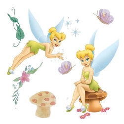 Blue Mountain Wallcoverings - Disney Tinkerbell Very Fairy 22-Piece Wall Sticker Set - Features: