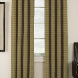 Window Accents - Window Accents Lynette Geometric Jacquard Blackout Grommet Panel Pair - 29-41352 - Shop for Curtains and Drapes from Hayneedle.com! Add sophistication to your windows with the Window Accents Lynette Geometric Jacquard Blackout Grommet Panel Pair. This set includes two woven curtain panels with a tonal geometric pattern in your choice of color. Versatile and stylish these curtains also help reduce energy block light and noise and maintain the natural shape of regular panels. Your home heating and cooling bills can go down as much as 25%! These curtains block out 99% of outside light and 40% more noise than regular curtains. Just right for your home office! They have a grommet panel design for a tailored modern look that hangs easily with a decorative rod. They're also conveniently machine-washable.About Arlee Home FashionsArlee Home Fashions Inc. manufactures and markets household textiles like decorative pillows chair pads floor cushions curtains table linens and pet beds. The company was incorporated in 1976 and is based in New York New York.