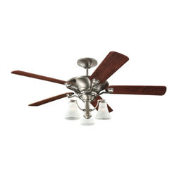 "Sea Gull Lighting - Sea Gull Lighting 56"" Somerton Traditional Ceiling Fan X-569-B07151 - 6"" length x 0.5"" dia. downrod included. Ceiling fan glass mounts up or down."