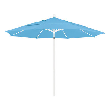 California Umbrella - 11 Foot Pacifica Fabric Aluminum Pulley Lift Patio Market Umbrella, White Pole - California Umbrella, Inc. has been producing high quality patio umbrellas and frames for over 50-years. The California Umbrella trademark is immediately recognized for its standard in engineering and innovation among all brands in the United States. As a leader in the industry, they strive to provide you with products and service that will satisfy even the most demanding consumers.