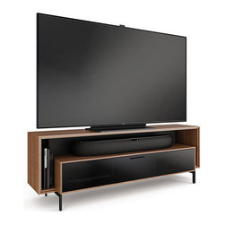 BDI - Cavo Triple-Wide Home Theater Cabinet, Walnut - The Cavo Home Theater Cabinet is yet ...