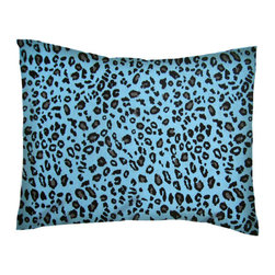 SheetWorld - SheetWorld Twin Pillow Case - Percale Pillow Case - Blue Leopard - Made in USA - Twin Pillow Case. Made of an all cotton percale fabric. Features a Blue Leopard print.