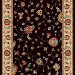 "Dynamic - Radiance Traditional, Chocolate / Border Color Creme, 2'2"" X 7'10"" - Radiance 43003-3464 2.2 x 7.10"
