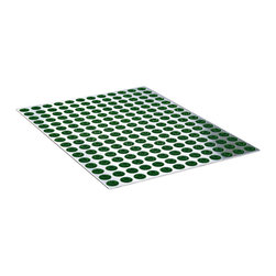 Radius Design - Feet-Back III Door Mat Extra Large, Green - The Feet-Back III Doormat offers you an intelligent XXL sized-door mat made of stainless steel. It is suitable for use both indoors and out. 192 replaceable brushes made of hard-wearing plastic ensure the soles of your shoes are properly clean.