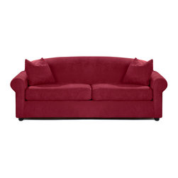Savvy - Chicago Queen Sleeper Sofa, Microsuede Cinnabar, Dreamsleeper - The Chicago Queen Sleeper Sofa is offered in two durable upholsteries.  The Chicago provides traditional styling with rolled arms and a sloping camel-back.