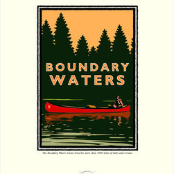 Numeric Press Ltd - Boundary Waters Giclée Print by Mark Herman, 8x10 - All of our art is original digital graphic art, illustrated exclusively by Mark Herman. These are not reproductions of vintage art.
