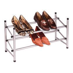 Richards Homewares - Richards Homewares Stacking/ Telescoping Metal Shoe Rack - This two-tier ...