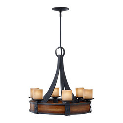 Feiss - Feiss F2591/6AF/AGW Madera Forged Iron 6 Light Chandelier - Feiss F2591/6AF/AGW Madera Forged Iron 6 Light Chandelier