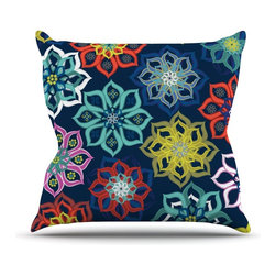 """Kess InHouse - Jolene Heckman """"Multi Flower"""" Rainbow Flowers Throw Pillow (Outdoor, 20"""" x 20"""") - Decorate your backyard, patio or even take it on a picnic with the Kess Inhouse outdoor throw pillow! Complete your backyard by adding unique artwork, patterns, illustrations and colors! Be the envy of your neighbors and friends with this long lasting outdoor artistic and innovative pillow. These pillows are printed on both sides for added pizzazz!"""