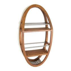 "Aqua Teak - Teak & Stainless Shower Organizer - From the Spa Collection - This beautiful Aqua Teak shower organizer hangs on your shower head or on Aqua Teak��s optional suction hook and is designed to hold all of your bath accessories. The teak shower caddy is a convenient size, allowing plenty of room for bath products while still comfortably fitting in almost any shower. Built using naturally water resistant teak wood and stainless steel, the shower organizer is extremely durable and built to last. Handcrafted and made to last, we are so confident that you will love your teak shower organizer that we offer a 30 day satisfaction guarantee and 5 year warranty on all of our products! Dimensions: 12.75""w x 24.75""h x 5""d"
