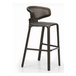 Eggit Patio Bar Stool - Innovative styling meets convenient stackability with this Eggit Patio Bar Stool.