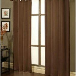 Sherry Kline - Sherry Kline Faux Silk Grommet Blackout Window Curtain Panels (Set of 2) - These beautiful, faux silk panels quickly add a touch of elegance to any room. The panels' blackout liner is made out of 100% polyester resin, blocks out most of the light and also helps to reduce noise.