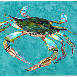 Caroline's Treasures - Crab  Glass Cutting Board Large Size - Large Cutting Board .. . Made of tempered glass, these unique cutting boards are some of your favorite artists prints. 15 inches high and 12 inches long, they will beautify and protect your counter top. Heat resistant, non skid feet, and virtually unbreakable!