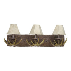 Craftmade - Craftmade Frontier 194 Series Traditional Bathroom / Vanity Light X-3BE52491 - Perfect for that mountain cabin or country estate. Optional Pin-up Kit Included and Brown Shade Included.