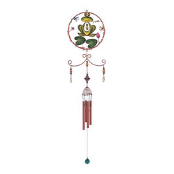 GSC - Wind Chime Copper & Gem Frog Garden Decoration Hanging Porch Decor - This gorgeous Wind Chime Copper & Gem Frog Garden Decoration Hanging Porch Decor has the finest details and highest quality you will find anywhere! Wind Chime Copper & Gem Frog Garden Decoration Hanging Porch Decor is truly remarkable.