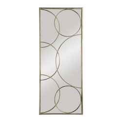 Ren-Wil - Ren-Wil Antique Silver Wall Mirror - 19W x 46H in. - MT926 - Shop for Mirrors from Hayneedle.com! It doesn't matter what the rest of your decor looks like there's not a single style that couldn't benefit from the ultra fun looks of the Ren-Wil Antique Silver Wall Mirror - 19W x 46H in. on the wall. A sparkling rectangular mirror and sleek metal frame give a modern touch. Funky and vibrant metal circle accents add a buoyant and festive feeling to your space.