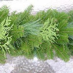 None - 10-foot Fresh Balsam Cedar & Pine Garland - Balsam cedar pineGarland:Dimensions: 10 feet