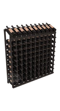Wine Racks America - 100 Bottle Display Top Wine Rack, Black Stain - Make your top 10 vintages focal points of your cellar or store. Our wine cellar kits are constructed to industry-leading standards. You'll be satisfied. We guarantee it. Display top wine racks offer ample storage below a presentation row. Great as a stand alone unit or paired with other modular racks from our product lineup.