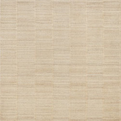 """Loloi Rugs - Loloi Rugs Hadley/Hemingway Collection - Natural, 3'-6"""" x 5'-6"""" - Natural beauty is expressed in an understated fashion with the Hadley Collection, an eco-friendly collection of 100% undyed wool. Loom knotted in India, Hadley features an intriguing cut pile and loop combination which adds distinctive texture to these handsome and durable designs. Also, the muted colors fit easily with a variety of interior styles while still earning notice with raw elegance."""