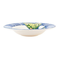 Fitz and Floyd - Fitz and Floyd 29-523 Courtyard Soup Bowl - Set of 4 - FITZ046 - Shop for Bowls from Hayneedle.com! Traditional yet updated the Fitz and Floyd 29-523 Courtyard Soup Bowl - Set of 4 adds an elegant charm to your dining set. The blue and white delft-style border includes a colorful butterfly for a sweet detail. The stoneware design is both dishwasher- and microwave-safe. Set of four bowls.About Fitz and FloydFitz and Floyd is recognized worldwide as a leader amongst the style- and quality-conscious. For 50 years their unique designs have made them the leader in the purveyor of hand-painted ceramic dinnerware tableware accessories giftware and collectibles. All Fitz and Floyd pieces are easy to spot distinctively hand-crafted by artisans from the drawing board to the sculpting wheel and kiln. Their Dallas-based studios are renowned for producing over 500 unique designs per year. Creations ranging from Presidential dinnerware for the White House a tea service for Her Majesty Queen Elizabeth II to the perfect centerpiece for your table each design is lovingly crafted in the highest quality. Meticulous craftsmanship and exquisite detail make every Fitz and Floyd piece a treasured heirloom-quality gift.
