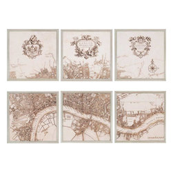 Paragon - London, 1720 PK/6 - Framed Art - Each product is custom made upon order so there might be small variations from the picture displayed. No two pieces are exactly alike.