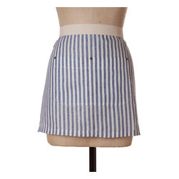 Birdkage - Montauk Mini Half Apron - Love to cook — and eat? No worries, these slenderizing stripes will make you look like you've dropped a few pounds! Made to last in the USA — with durable details including blue jean rivets — you'll be lookin' (and cookin') good for a long time.