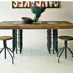 Rebar Dining Table - I love the use of industrial materials to create the subtle elegance that this table captures.