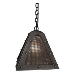 Steel Partners Inc - Timber Ridge Pendant - ROGUE RIVER - Mesh - Every piece we create is unique — handcrafted at our factory in Chehalis, Washington, USA. Due to this, lead times are 2 to 4 weeks.