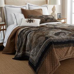 "Callisto Home - Ilsa Beaded & Embroidered Pillow 15"" x 21"" - CREAM/BLACK (15X21) - Callisto HomeIlsa Beaded & Embroidered Pillow 15"" x 21"""