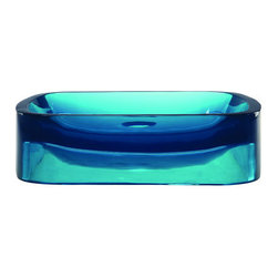 """DecoLav - DecoLav 2802-LAG Lagoon Incandescence Incandescence 17-5/8"""" - Incandescence 17.5"""" Rectangular Resin Vessel Lavatory Sink This Incandescence vessel lavatory sink from DecoLav is sure to make a big first impression to anybody viewing your newly designed bathroom. It offers a unique rectangular eye-catching shape featuring a gently sloped basin and flat rim. Made from DecoLav s proprietary poly-resin material, this lavatory is easy to clean and durable enough to withstand years of use. This lavatory sink is available in ten radiant colors to offer a bouquet of options to your bathroom design. Pair your Incandescence lavatory with a DecoLav drain to create an amazing combination that will complete your dream bathroom. The Incandescence Collection represents DecoLav s latest in lavatory design. Artfully crafted from resin, these five unique styles are sure to give your bathroom that touch of excitement you ve been looking for. The entire Incandescence Collection is available in ten brilliant colors so you will be sure to find the right combination that best reflects your personal style. Features:  Crafted from a unique resin material that is durable and easy to clean Contemporary rectangular shape with rounded corners and a sloped basin Designed for above-counter use No overflow Available in 10 vibrant colors Faucet and drain not included Limited lifetime warranty  Specifications:  Length: 17.5 inches Width: 15 inches Height: 4.5 inches Basin Depth: 4 inches Faucet Holes: 0 Drain Connection: 1.75 inches Water Depth to Overflow: 4 inches Vessel Gallons to Overflow: 2.51"""